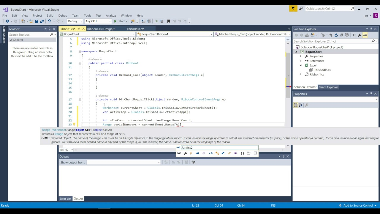 Visual studio tools for office c addin embedded chart excel part 1 youtube - Visual studio tools for office ...