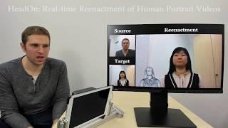 HeadOn: Real-time Reenactment of Human Portrait Videos (Siggraph 2018)