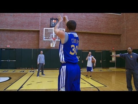 Steph Curry vs. Mark Jackson shooting challenge