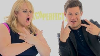 Rebel Wilson & Adam Devine KISS! Pitch Perfect 2 Interview