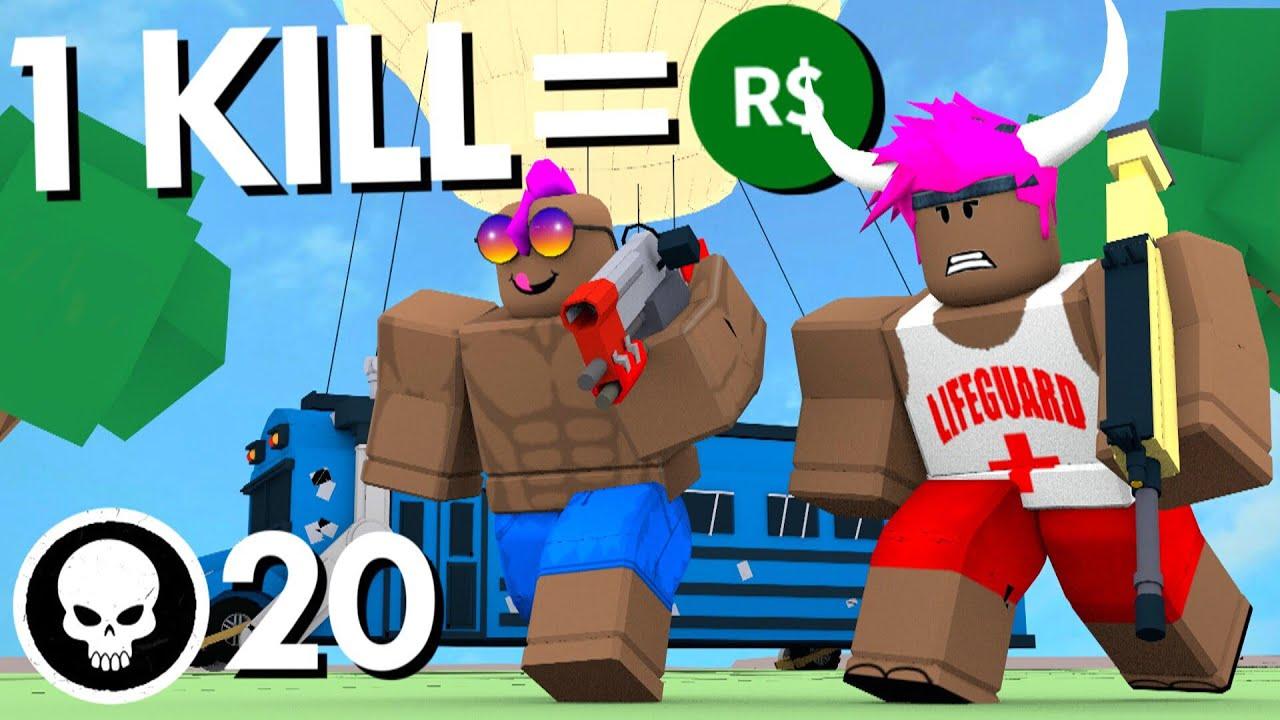 1 KILL = FREE ROBUX IN ROBLOX FORTNITE - YouTube