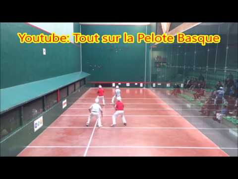 Finale xare Nat A 2017 - Hasparren (Lopetegui/Funosas) contre Anglet (Driolet/Sistiague)