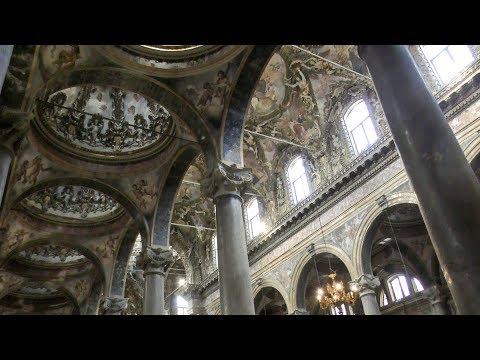Palermo, Sicily, Italy. A Walk in the Baroque Church of St. Giuseppe dei Teatini