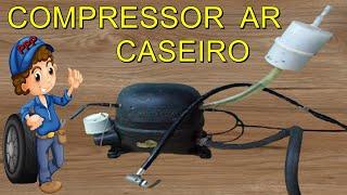 COMO FAZER COMPRESSOR DE AR CASEIRO COM SUCATA ( RECICLAGEM ) DE MOTOR DE GELADEIRA PASSO A PASSO(, 2016-11-19T09:00:00.000Z)