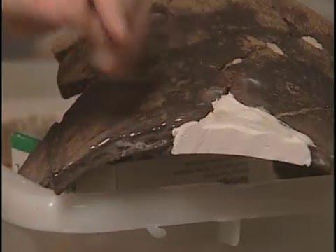 The Restoration of the Michipicoten Pot – Cutting the Plaster Rim to Shape (9)