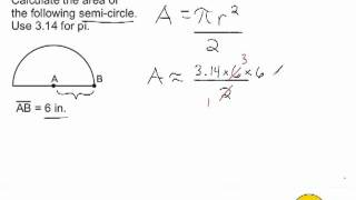 Area Of A Semi-Circle
