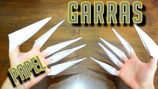 Como fazer garras de papel! - Origami