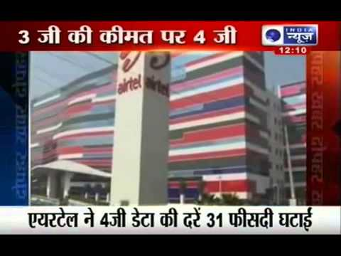 India News   Bharti Airtel cuts down 4G data prices by 31%