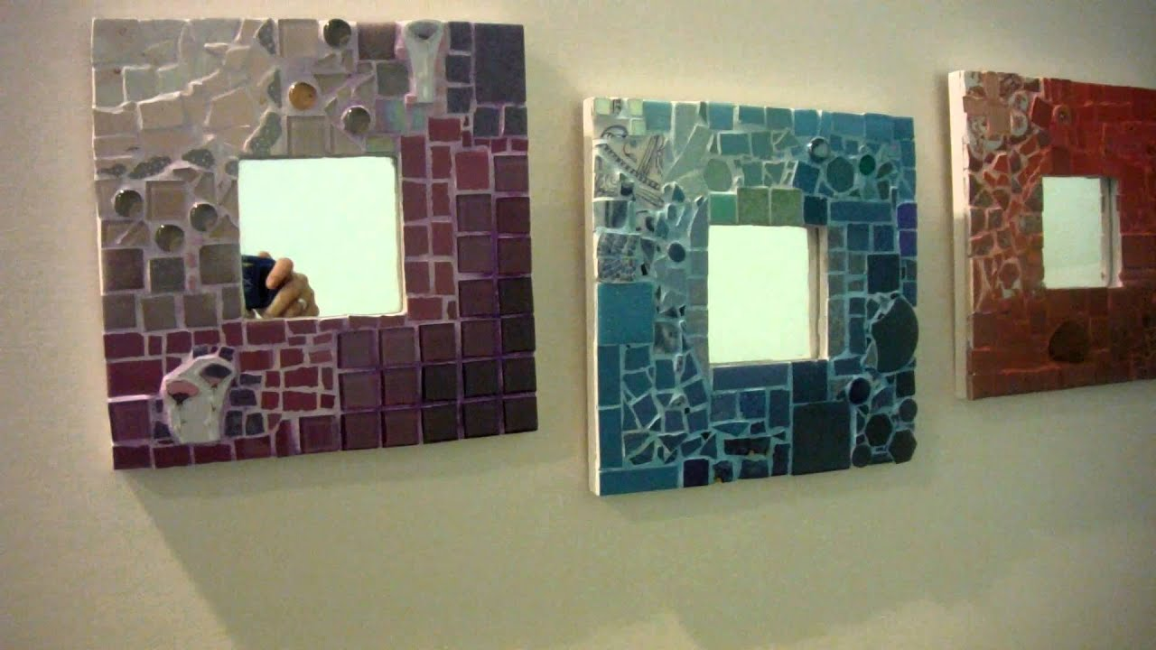 Cr ation de 3 miroirs d grad s mosa que par un l ve de l for Mosaique miroir
