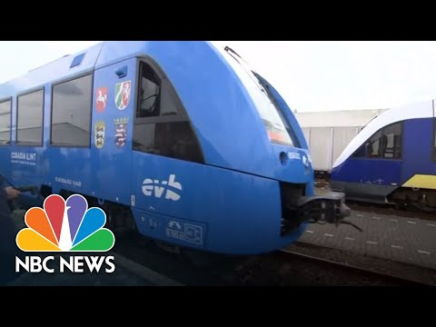 The World's First Hydrogen-Powered Passenger Train Debuts In Germany | NBC News