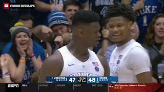 Zion Williamson Highlights vs. #4 Virginia (1/19/19) - 27 PTS, 9 REB, 2 STL, 1 BLK