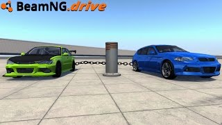 BeamNG.drive - CHAIN WRAPS AROUND POLE