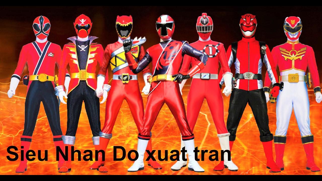Sieu Nhan Game Play | Tất cả các siêu nhân đỏ trong game xuất trận | Game  Super sentai ranger BC