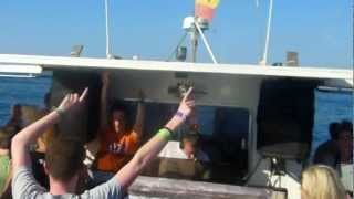 John Newall dropping Y Traxx - Mystery Land @ Driftwood boat party Ibiza 13/8/12
