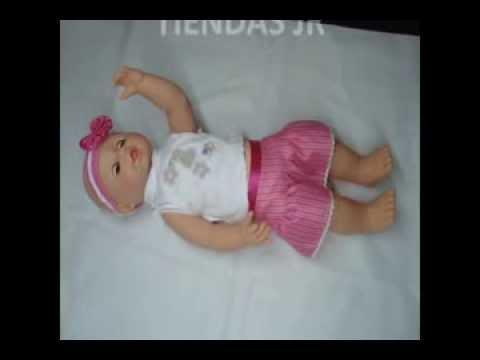 Muneca Bebe Que Crece Toma Su Biberon Rie Llora Y Duerme Youtube