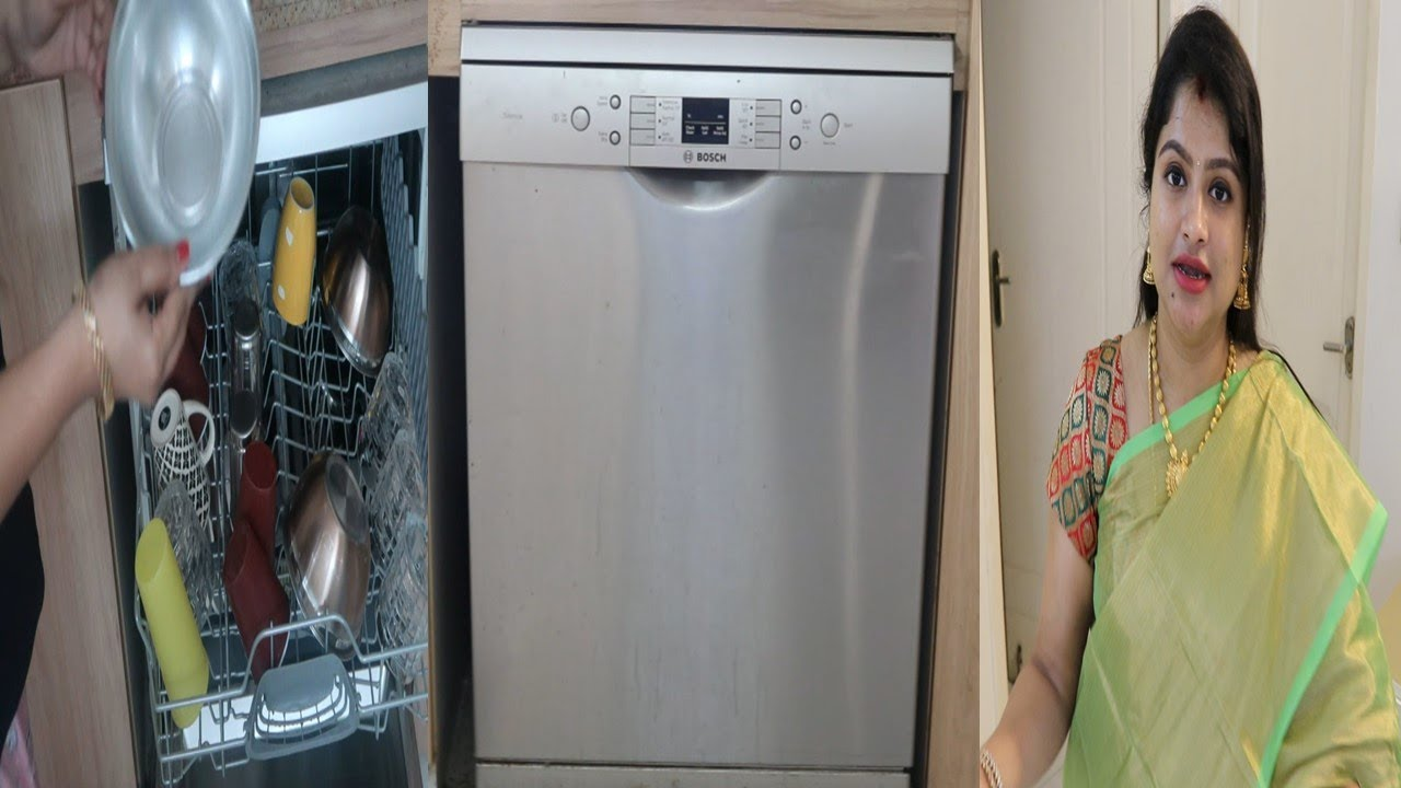 Bosch Dishwasher Full Demo & Review For Indian Utensils in Tamil   july2019