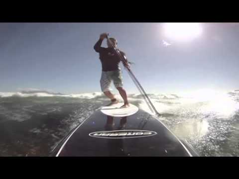 50 knot Gale Force downwinder on SUP with XLTV and Coreban team