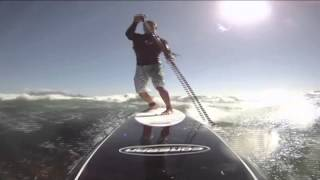 50 knot Gale Force downwinder on SUP