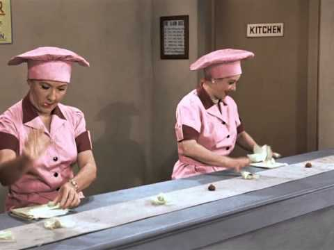 Image result for lucy works at a chocolate factory color