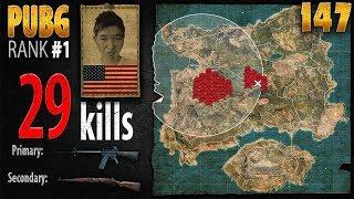 PUBG Rank 1 - Menthol_TV 29 kills [AS] SQUAD TPP - PLAYERUNKNOWN'S BATTLEGROUNDS #147