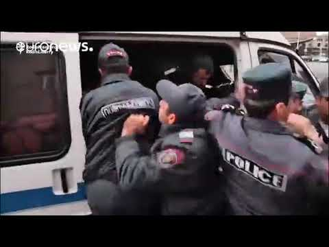 Watch  Demonstrators wrestle with police at Armenia anti PM protest