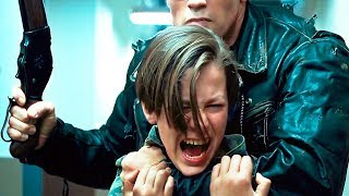 "TERMINATOR 2 3D ""T800 VS T1000"" (2017) 4K Scene, T2 Hallway Movie Clip HD"