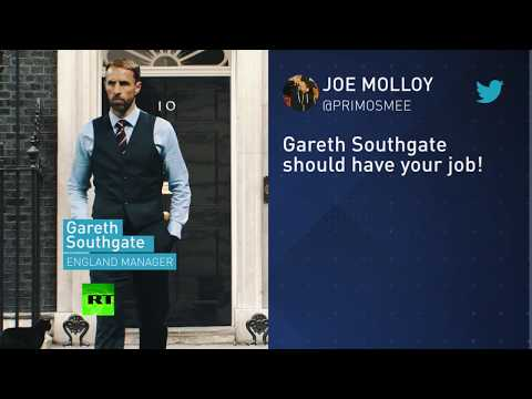 'Gareth Southgate should have your job!' English fans to Theresa May