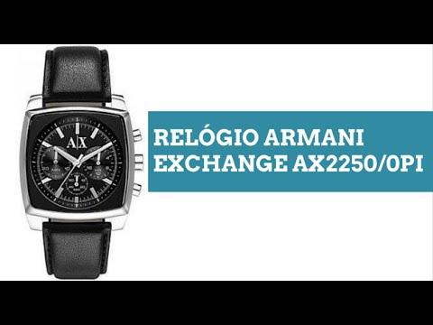 812d00c4e05d7 Relogio Armani Exchange AX22500PI - YouTube