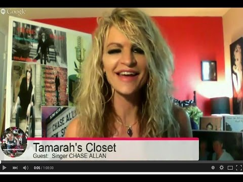 """LIVE INTERVIEW in Tamarah's Closet:  """"Introducing Chase Allan, Singer/Songwriter"""""""