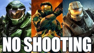 Beating the Halo Trilogy WITHOUT shooting? (Halo CE, Halo 2, Halo 3)