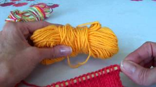 Knitting ~ Adding a new skein and/or new color.