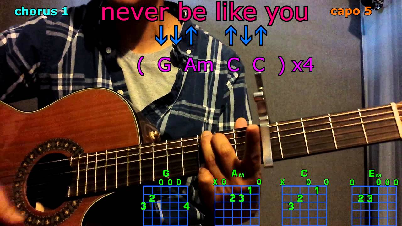 Never be like you flume ft kai guitar chords youtube never be like you flume ft kai guitar chords hexwebz Gallery