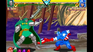 Marvel Super Heroes [PS1] - play as Dr. Doom