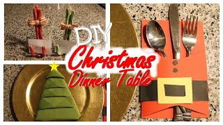 Diy Christmas Dinner Table Ideas!