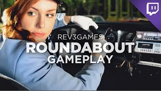 ROUNDABOUT Gameplay Demo! Crazy Taxi meets Full-Motion Video