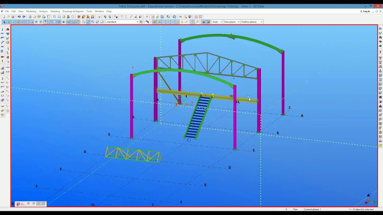Tekla Structures Basics of Drawings part 1
