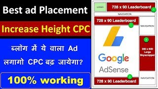 How To Place ads on Website | High CPC ads |Best Google Adsense Placement Guide in Hindi