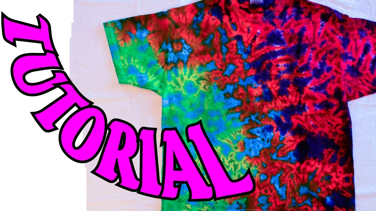 Fresh How to Tie Dye a Crinkle or Scrunch Design Full Tutorial YouTube