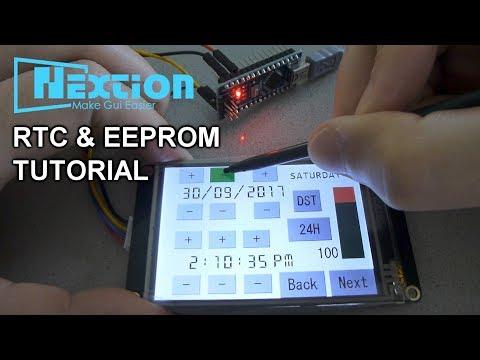 Nextion+Arduino Tutorial #3 RTC and EEPROM (Enhanced Version)