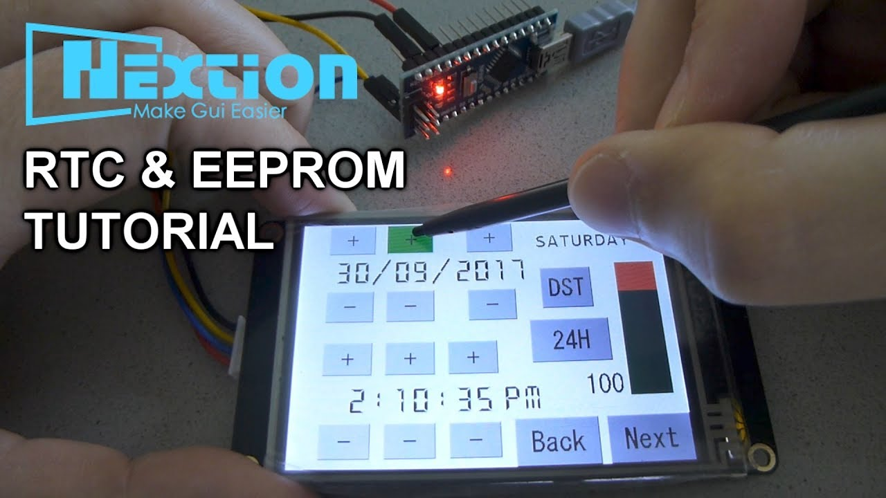 Nextion+Arduino Tutorial #3 RTC and EEPROM (Enhanced Version)