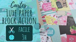 DIY Faire des cartes avec le Luxe paper block de chez Action