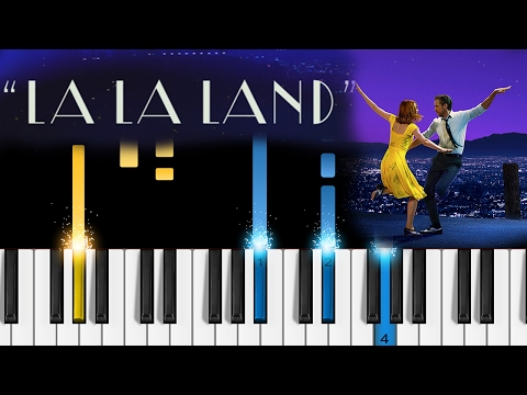 A Lovely Night  La La Land soundtrack  EASY Piano Tutorial