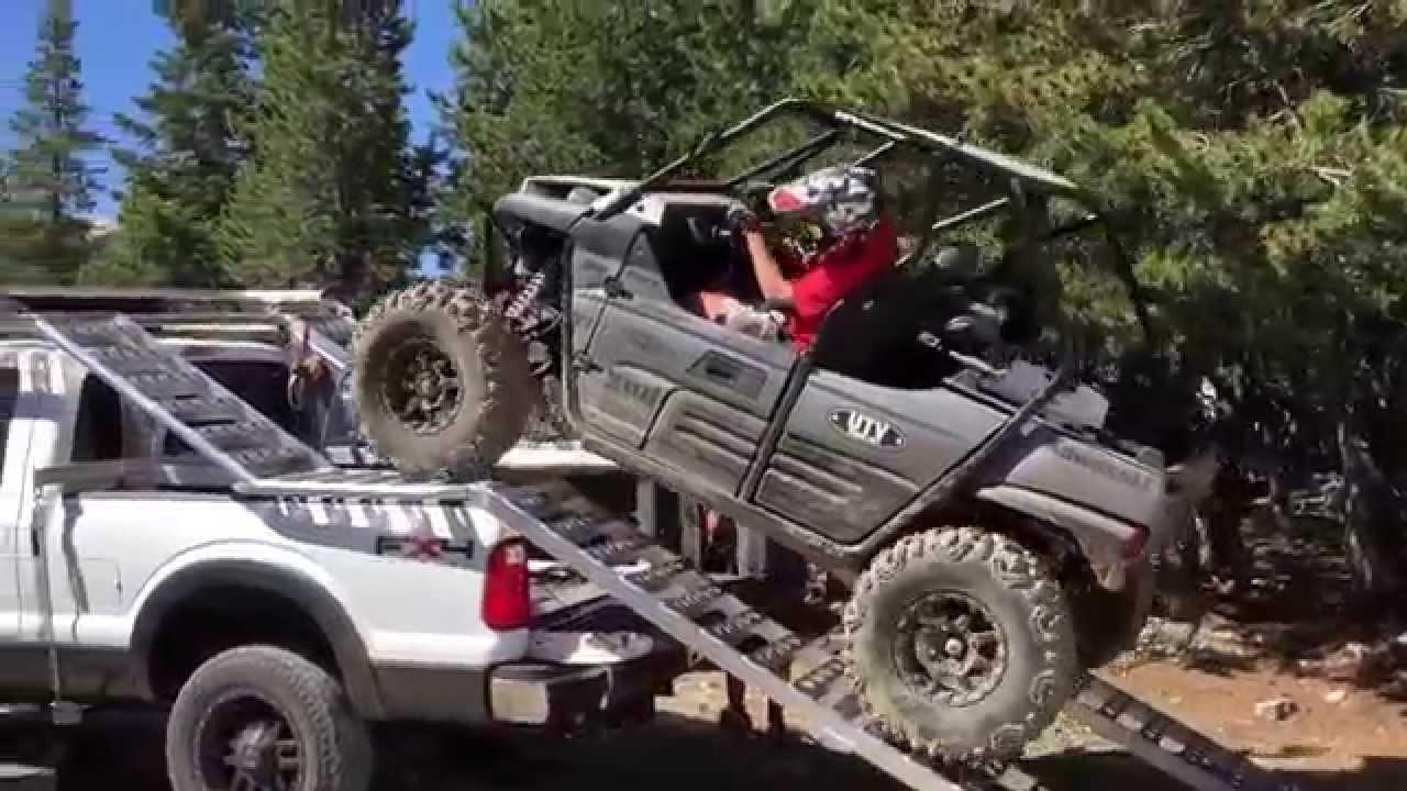 loading our kawasaki teryx on our utv truck rack