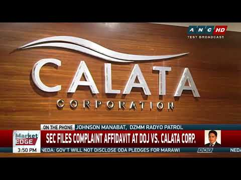 SEC files criminal complaint vs Calata CEO