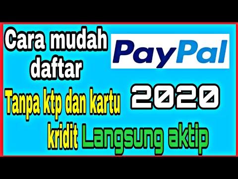 Cara DAFTAR Paypal Tanpa Kartu Kredit Dan KTP 2020