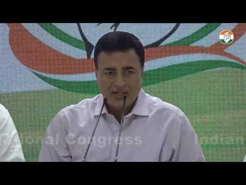AICC Press briefing by Randeep Singh Surjewala on BJP's Pragya Thakur's comment on Godse
