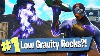 SEASON 4 BATTLE PASS + LOW GRAVITY HOP ROCKS - Fortnite Battle Royale