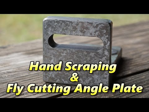 Hand Scraping & Fly Cutting Small Angle Plate