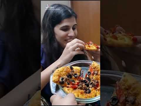Eating Vegan Pizza for the first time | Domino's Unthinkable Pizza | Vegan Food #shorts
