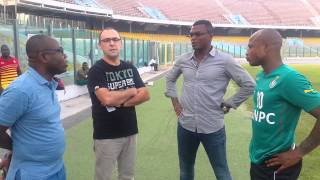 Marcel Desailly visits Black Stars ahead of Comoros game
